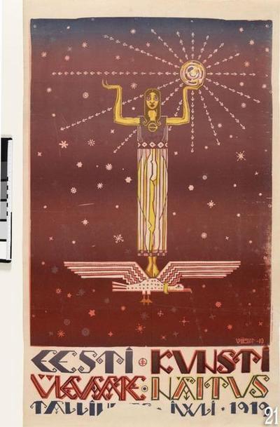 poster 'Survey Exhibition of Estonian Art'