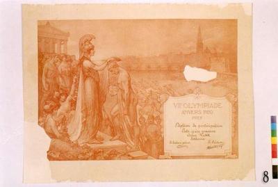 VIIe Olympiade Anvers 1920. Prix
