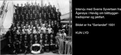 Båtbyggertradisjoner og jaktfart fra Ågerøya