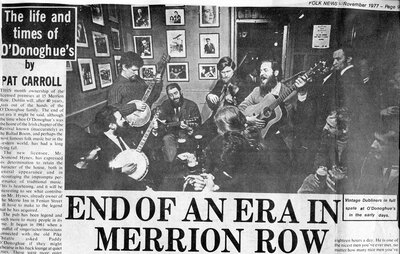 The Dubliners with unidentified audience in O'Donoghue's pub, Merrion Row, Dublin