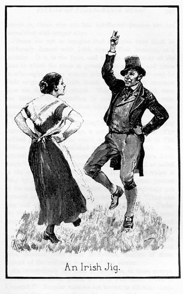 An Irish jig, dancer