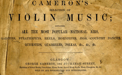 Cameron's selection of violin music, 1859
