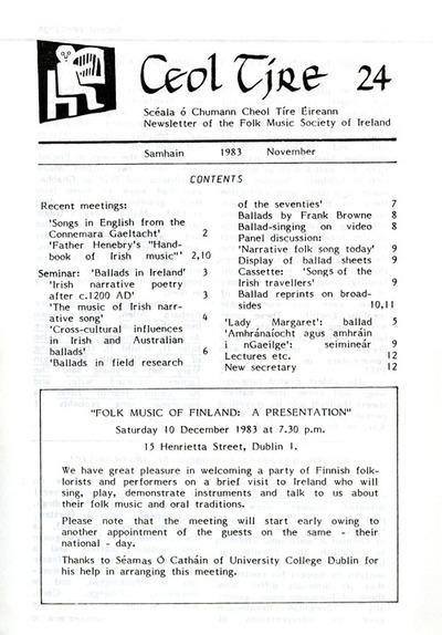 Ceol Tíre 24, November 1983