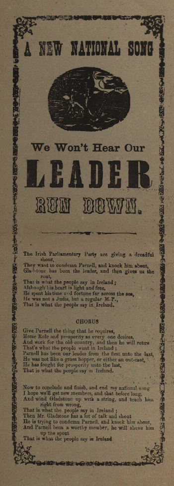 A new national song : We won't hear our leader run down