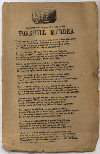 Lamentation on Stephen M'Keown for the Forkhill murder