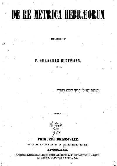 De re metrica Hebraeorum