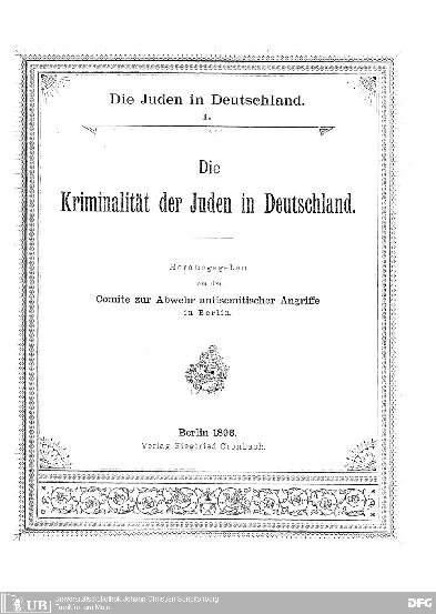 Die Juden in Deutschland