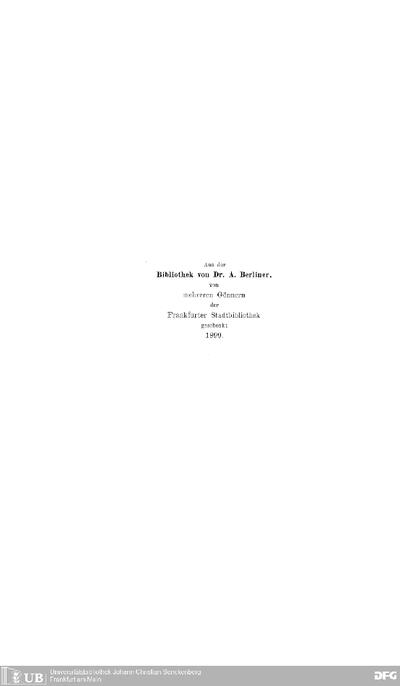 Replik des Dr. Hirsch Hildesheimer auf das Druckwerk, welches der Buchdruckerei-Besitzer F. W. Glöss seiner Klage-Beantwortung entgegengestellt hat