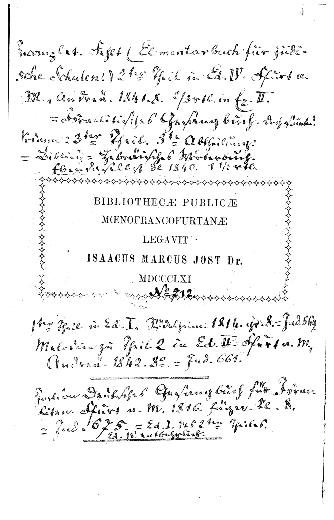 Shorshe ha-dat=Lehrbuch der mosaischen Religion : nebst e. Anh., Ceremonialgesetze u. Gebräuche ... enthaltend