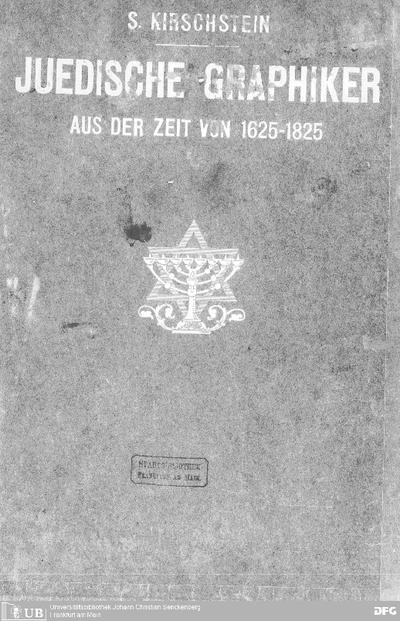 Juedische Graphiker aus der Zeit von 1625-1825