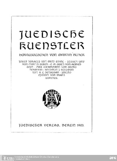 Juedische Künstler