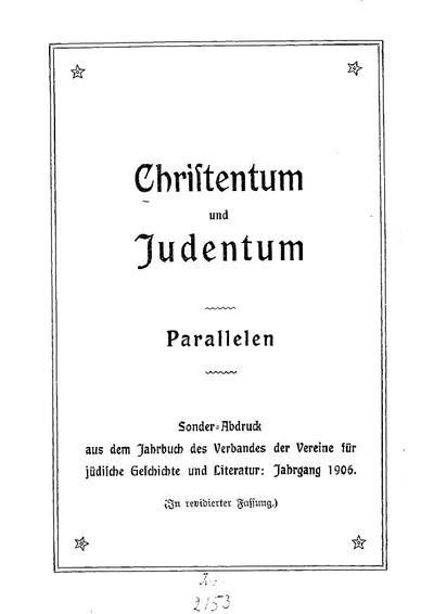 Christentum und Judentum : Parallelen