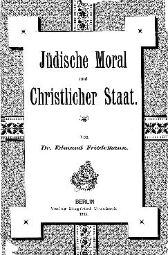 Jüdische Moral und christlicher Staat