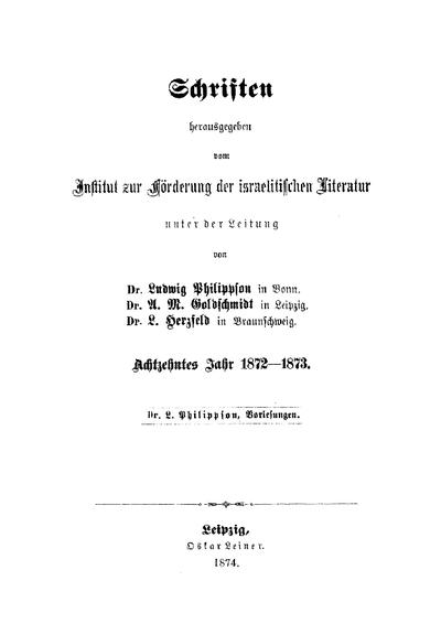 Die Entwickelung der religiösen Idee im Judenthume, Christenthume und Islam und die Religion in der Gesellschaft : Vorlesungen