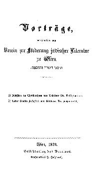 Jüdisches im Christenthum des Reformationszeitalters : Vortrag