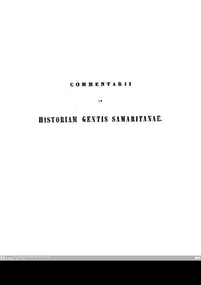 Theodori Guilielmi Johannis Juynboll Commentarii in historiam gentis Samaritanae