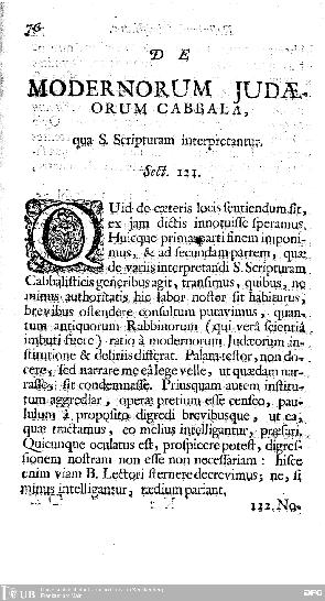 Articulis duobus continet testimonia ex s. scriptura et rabbinis : 1. De SS. Trinitate, 2. De Chrito