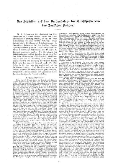 Das Schächten auf dem Verbandstag der Tierschutzvereine des Deutschen Reiches