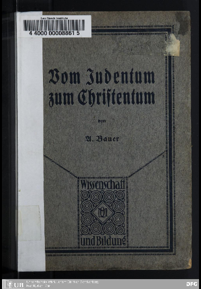 Vom Judentum zum Christentum