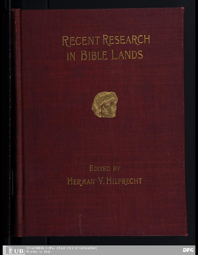 Recent research in Bible lands : its progress and results