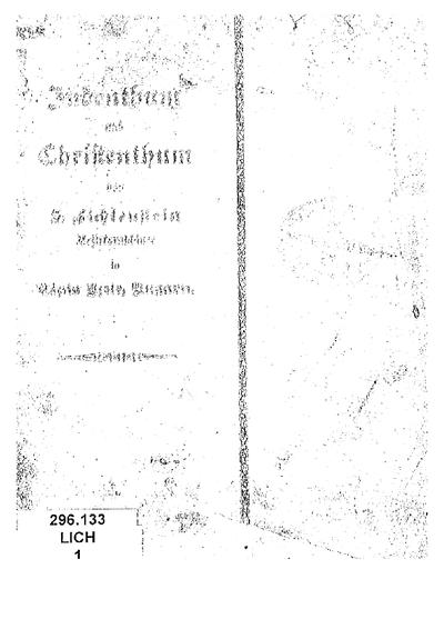 Judenthum und Christenthum