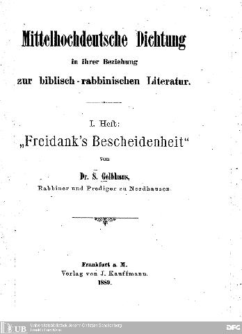 Freidank's Bescheidenheit