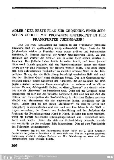 Festschrift zum 75jährigen Bestehen der Realschule mit Lyzeum der Isr. Religionsgesellschaft Frankfurt am Main