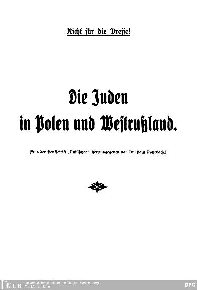 Die Juden in Polen und Westrußland