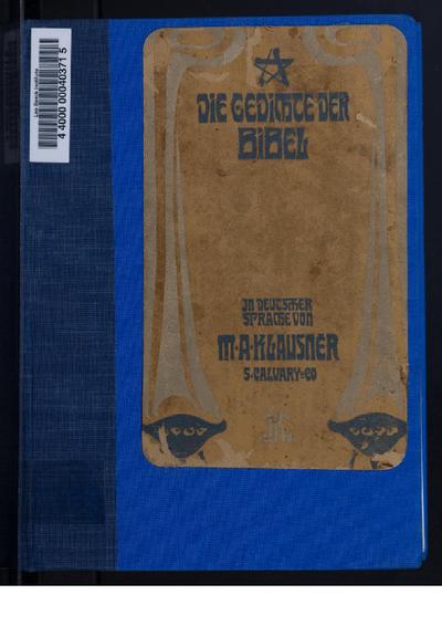 Die Gedichte der Bibel in deutscher Sprache