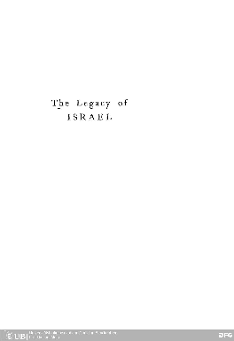 The legacy of Israel : essays