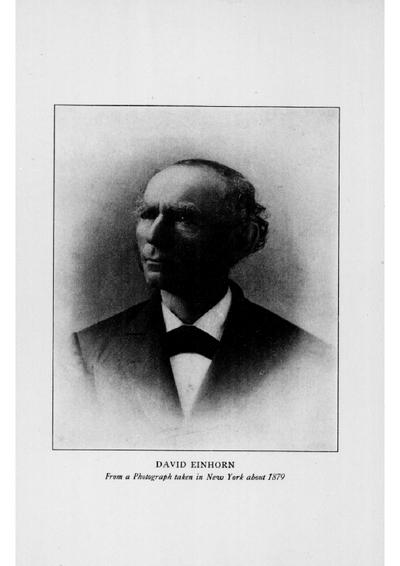 David Einhorn : Memorial Volume ; seclected sermons and addresses
