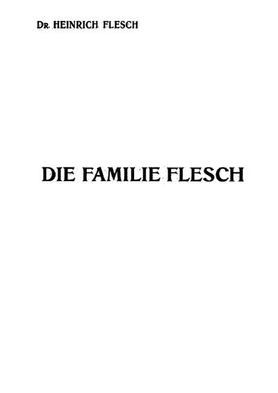Die Familie Flesch