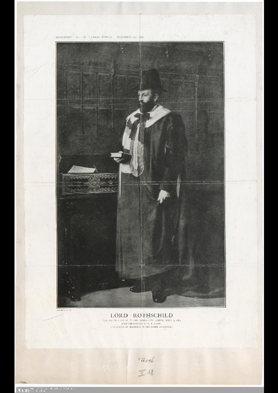 Lord Rothschild, taking the oath in the House of Lords : July 9, 1885