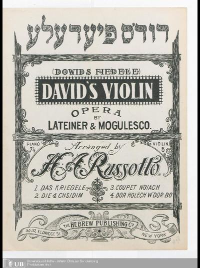 David's violin : opera