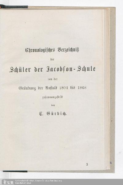 Die Säkularfeier in der Jacobson-Schule zu Seesen am Harz : zur Erinnerung an den Stifter Israel Jacobson