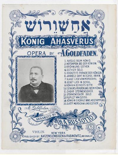 König Ahasverus : opera