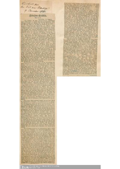 1905 - 1906, Teil 1