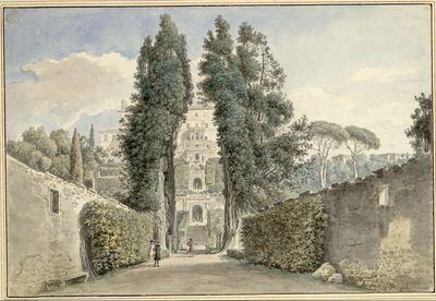 Die Zypressenallee der Villa d'Este in Tivoli