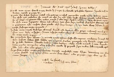 Lettera di Lanfranchi Niccolò a Agli Manno Di Albizo, 28/02/1397, carte 1