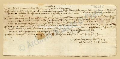 Lettera di Comi Niccolao a Datini Francesco Di Marco e Comp., 05/10/1405, carte 1