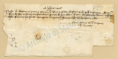 Lettera di Comi Niccolao a Datini Francesco Di Marco e Comp., 06/10/1406, carte 1