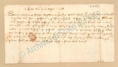 Lettera di Grimaldi Angelo a Fieschi Niccolino, 25/09/1400, carte 1