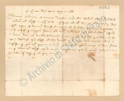 Lettera di Grimaldi Angelo a Marini Oliviero, 25/09/1400, carte 1