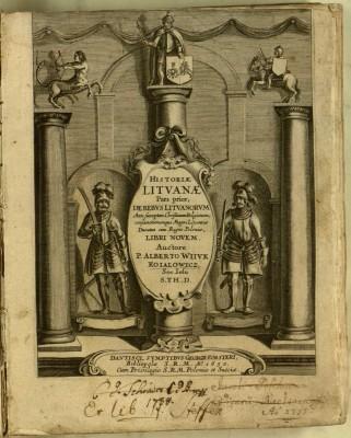 Historiae Lituanae pars prior [-posterior]