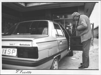 Joan Coll, taxista de Calella atracat