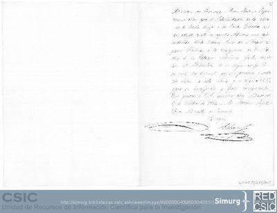 M.Moreno López informa a Pedro Sabau sobre la existencia de un cajón en la Aduana de Cádiz enviado por la Comisión Científica del Pacífico desde Buenos Aires