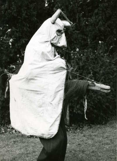 Plough Jacks hobby horse costume, Burringham, Lincolnshire, England, 1953