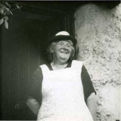 Mrs Rumble (Aunt Fanny). Tilshead, Shrewton, Wiltshire, England, 1952