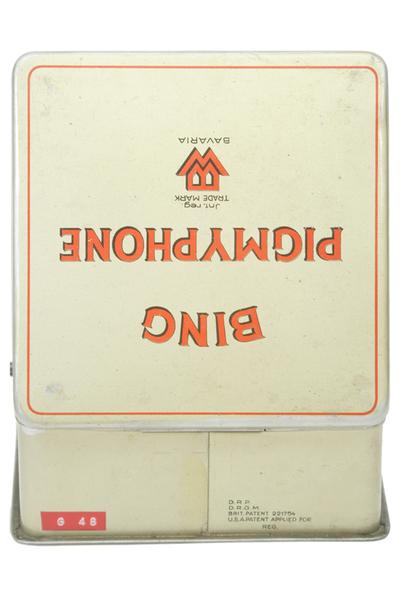 Bing 'Pigmyphone' toy gramophone: lid