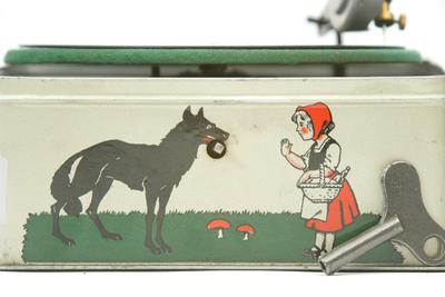 Bing 'Pigmyphone' toy gramophone: winding spigot